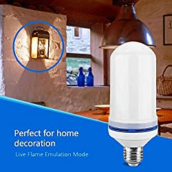 Flame Bulb by Nu-Tech LLC LED Flickering Fire   Simulated Light For A Decorative Vintage In Bar, Festival, Outdoor, Indoor   Save Energy and Impress Friends   E26 Socket