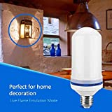 yellow energy smart light bulb - Flame Bulb by Nu-Tech LLC LED Flickering Fire   Simulated Light For A Decorative Vintage In Bar, Festival, Outdoor, Indoor   Save Energy and Impress Friends   E26 Socket