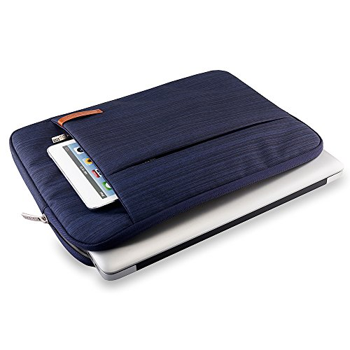 Lacdo 15.6 Sleeve for Toshiba Satellite, Inspiron, Acer Notebook Bag Repellent, Blue