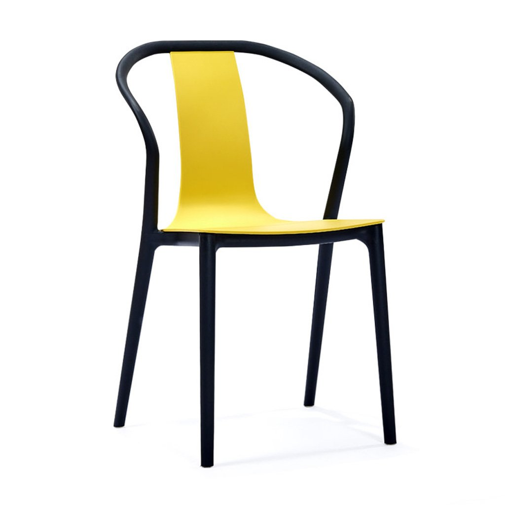 Modern Minimalist American Backrest Armrest Chair Nordic Domestic Creative Backrest Armrest Chair Yellow