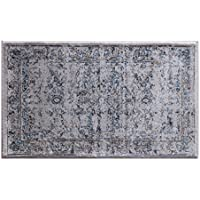 Masada Rugs Oriental Vintage Distressed Area Rug Rafael Collection (2 Feet X 3 Feet 4 Inch Mat)