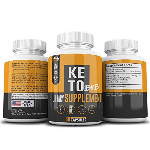Keto BHB Pills As Seen On Tv Fat Burner: Weight Loss for Men and Women -BHB Salts Supplement. Ketones for Ketogenic Diet Best to Burn Fat to Support Energy, Enhance Mental Focus & Clarity - 30 Day (Best Fat Loss Supplements Australia)