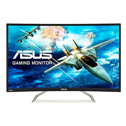 chollos oferta descuentos barato ASUS VA326HR Monitor de Gaming 31 5 FHD 1920x1080 144 Hz Curvo Antiparpadeo Luz Azul de Baja Intensidad