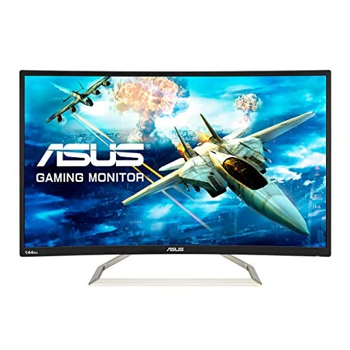ASUS VA326HR Curved 32 Inch (31.5 Inch) FHD (1920 x 1080) Gaming Monitor, VA, Up to 144 Hz, D-Sub, HDMI, Flicker Free…