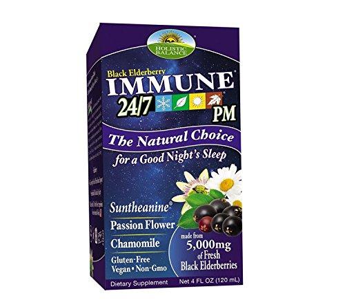 Holistic Balance Immune 24/7 Plus Eldeberry- 4oz. PM - Nighttime Formula