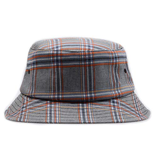 Hatphile Mens Womens Trends Fashion Bucket Hat (Large, Plaid Red)