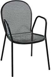 Bistro Outdoor Metal Chair With Arms   Lot Of 4