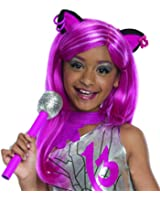 Rubies Monster High Frights Camera Action Catty Noir Wig, Child Size
