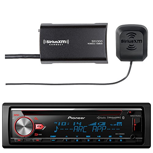 Marine Audio Combo Bundle: Pioneer DEH-X7800BHS CD Receiver with Enhanced Audio Functions, New SiriusXM SXV300v1 Satellite Radio Connect Vehicle Tuner Kit for Satellite ()