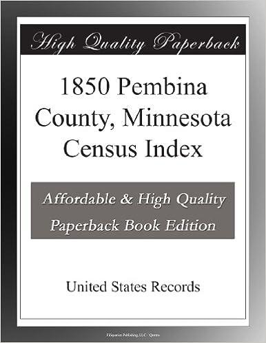 Book 1850 Pembina County, Minnesota Census Index