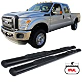 Side Step Bars Fits 1999-2016 Ford F250 F350 F450 | Black Powder Coat Finish T304 Stainless Steel Running Boards Nerf Bars By IKON MOTORSPORTS | 2000 2001 2002 2003 2004 2005 2006 2007 2008 2009 2010