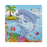 GOTD Dolphin 9-Piece Wooden Jigsaw Puzzle