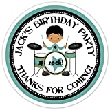 36 Rock and Roll Birthday Stickers, Personalized Birthday Stickers, Rock Star Birthday Labels