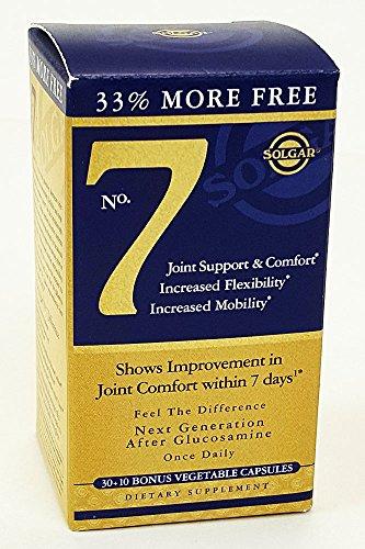 Solgar - No 7 Joint Support - Bonus Size (30 plus 10) - 40 Vcaps