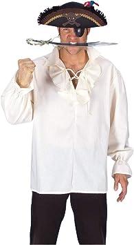 Horror-Shop Camisa del pirata con cuello de volantes XL58-60: Amazon.es: Juguetes y juegos