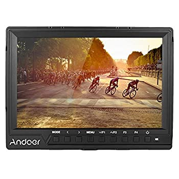 Image of Andoer 7Inch 160° Camera Video Monitor Full HD 1920x1200 IPS Screen Field Monitor with Sunshade HDMI Input Support 4K Signal for Canon Nikon Sony A7S/ A7S II/ A7R/ A7R II DSLR Camera Camcorder Video Monitors