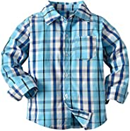 Christmas Toddler Baby Boys Gentleman Plaid Shirt Top Long Sleeve Button Down Chic Formal Blouse Clothes 2-7Y