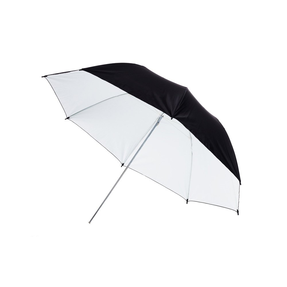 Fovitec - 1x 43 inch White Photography & Video Reflector Umbrella - [Easy Set-up][Lightweight][Cast-Iron][Collapsible][Durable Nylon]