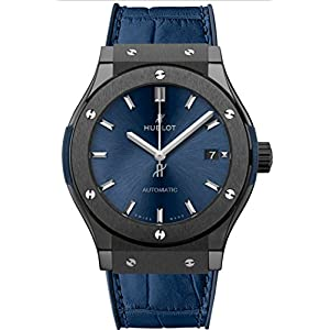 Hublot Classic Fusion Ceramic Blue 45mm Mens Watch 511.CM.7170.LR