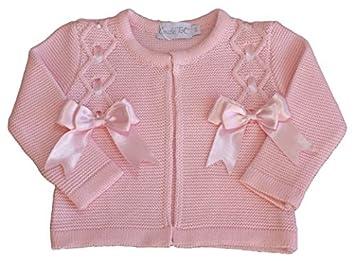 9700b91fd Baby girl Spanish BOW cardigan jacket bolero christening wedding 9 ...