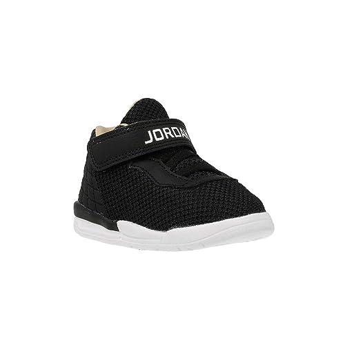 NIKE Jordan Academy Zapatos de bebé en Tejido Negro con Banda de Logotipo 844706-012: Amazon.es: Zapatos y complementos