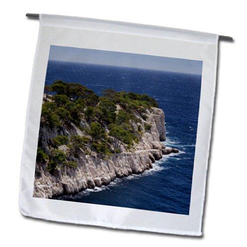 Danita Delimont - Provence - Rocky point, Cote dAzur, Provence, France - EU09 BJN0196 - Brian Jannsen - 18 x 27 inch Garden Flag (fl_135966_2)