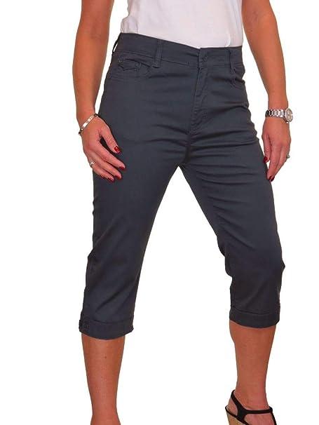 ICE Capri 3//4 length Jeans Stretch Denim Turn Up Cuff 14-24