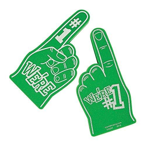 (School Spirit Green Foam Hands (9