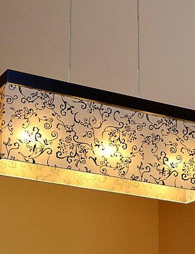 HJL- Pendant, 3 Light, Minimalist Cubic Metal Fabric Painting , 110-120v Cubic Three Light Chandelier