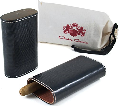 andre-garcia-limited-edition-black-woven-leather-cedar-lined-telescopic-3-finger-cigar-case-with-fla
