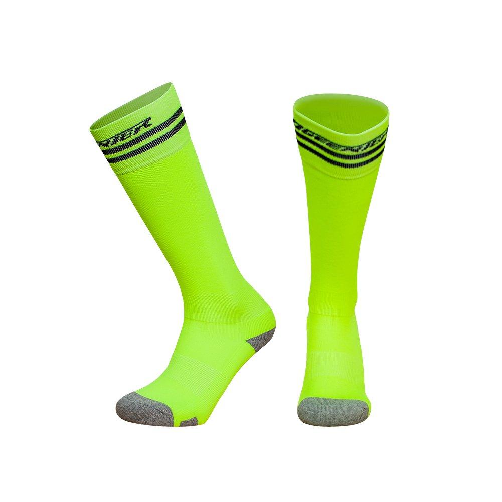 Ogeenier Calcetines de F/útbol para Hombre Compresi/ón de F/útbol Calcetines Deportes Football Socks Knee High Calcetines Performance Algod/ón Calcetines,3 Color