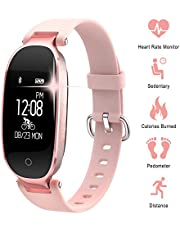 WOWGO Fitness Tracker for Women Heart Rate Monitors Step Counter Activity Trackers Smartwatches Bracelet IP67 Waterproof Bluetooth Pedometer Wristband with Sleep Monitor for Android & IOS Smartphone