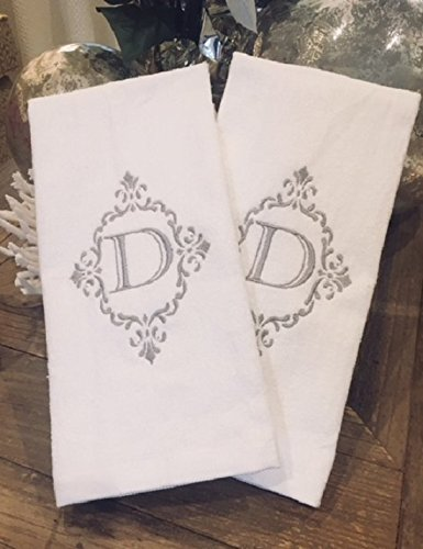 Amazoncom Customized Fleur De Lis Scroll Hand Towel Handmade