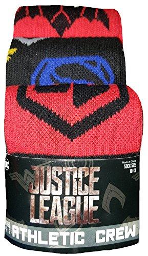 justice+league Products : DC Comics Justice League 3 Pair Athletic Crew Socks