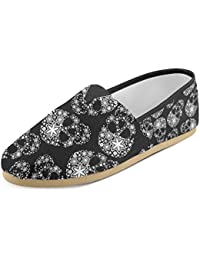 Women's Loafers Classic Casual Canvas Slip On Fashion Shoes Sneakers Mary Jane Flat