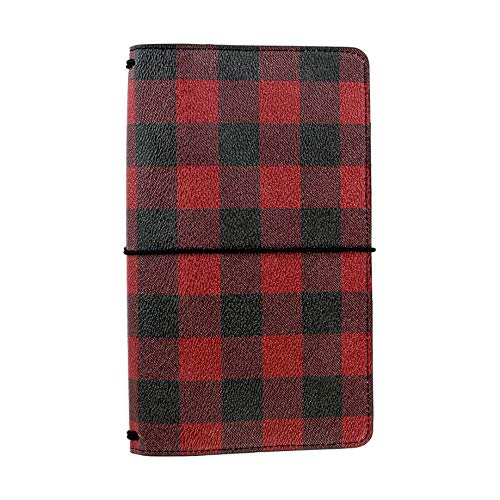 Echo Park Paper Company TN1011 Buffalo Plaid Travelers Notebook Red/Black