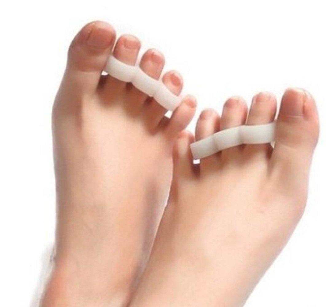 Cheap4uk 1 Pair Footful Gel Toe Separators Straighteners 3-Toe Bunion Pain Relief