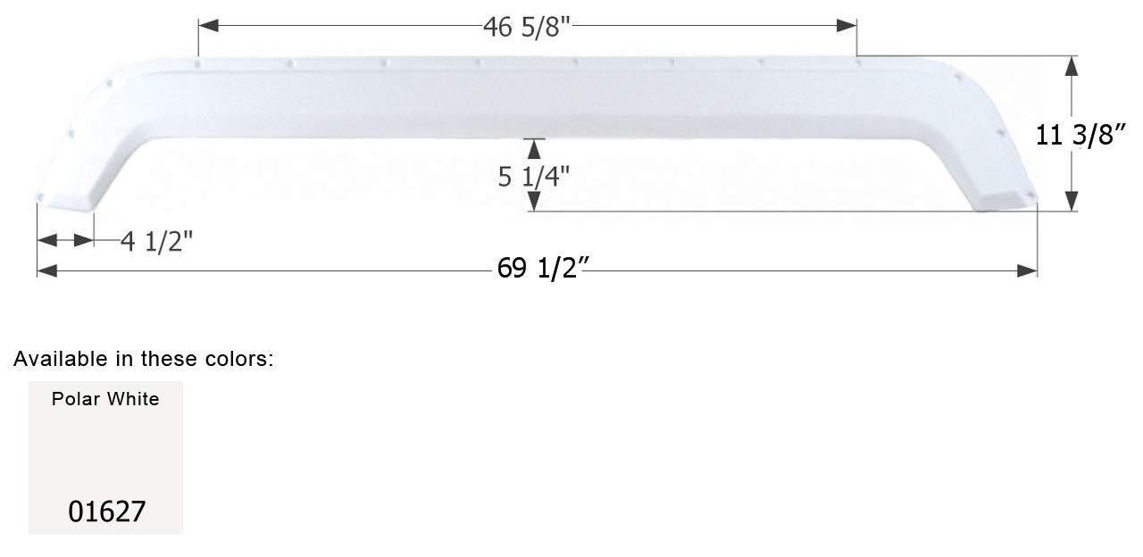 ICON Fleetwood Tandem Fender Skirt FS745, Polar White by ICON