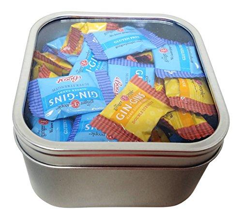 Ginger Candy Tin Box Window