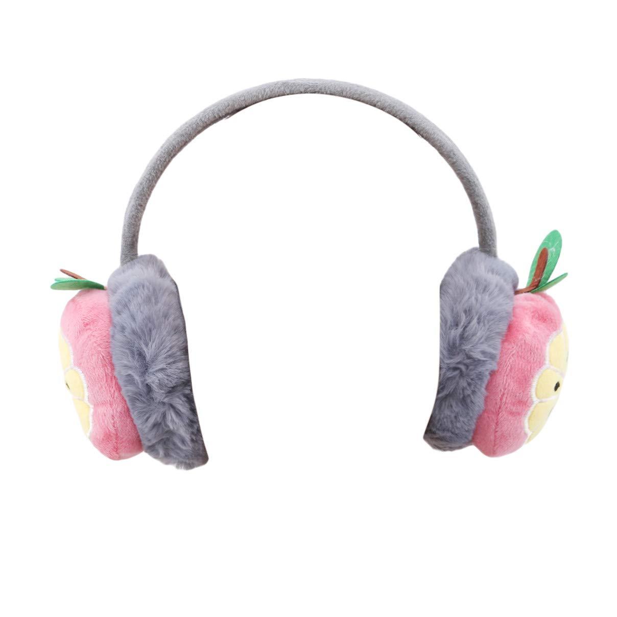 Danzh Ear Muff Kids Adjustable Cartoon Fruits Winter Warm Earmuffs Ear Cover Headband Gift For Children