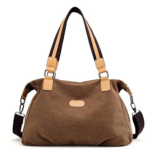 Borsa Semplice Hobo Di Donna Nclon Shoulder Una Pacchetto Tela Capacità porpora Nuovo Messenger Marrone Donna Spalla Borse Handbag Grande Bag Zaaqw8WCr