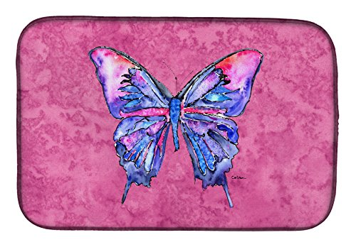 "Caroline's Treasures 8859DDM Butterfly on Pink Dish Drying Mat, 14 x 21"", multicolor from Caroline's Treasures"