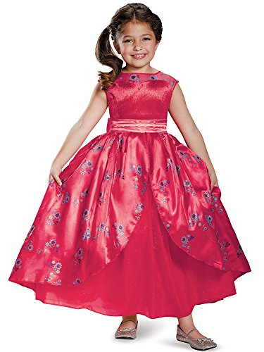 Elena Ball Gown Deluxe Elena of Avalor Disney Costume, Small/4-6X]()