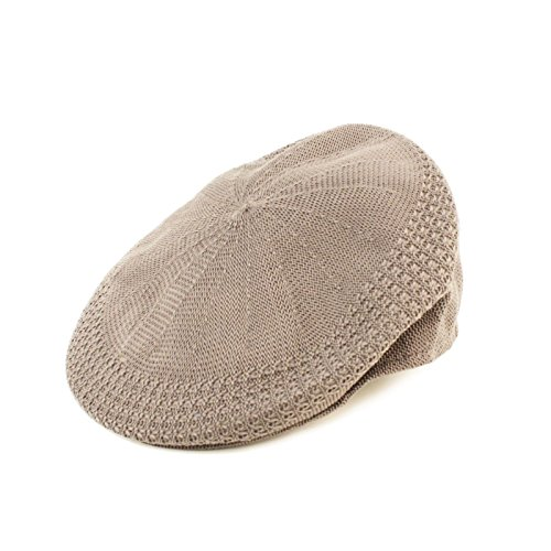 Summer Flat Mesh Vented Flat Visor Golf Ivy Driver Cabby Cap Hat Lt Gray 58cm L