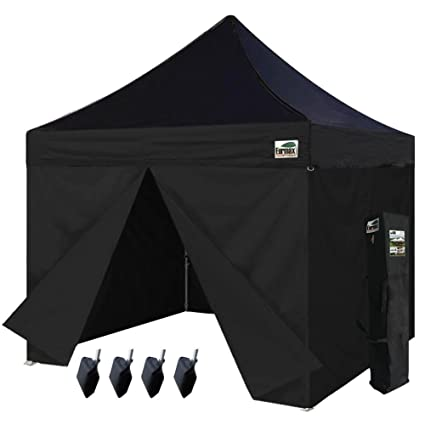 Eurmax 10 x 10 Ez Pop up Canopy Commercial Party Tent with 4 Zippered Sidewalls and  sc 1 st  Amazon.com & Amazon.com : Eurmax 10 x 10 Ez Pop up Canopy Commercial Party Tent ...