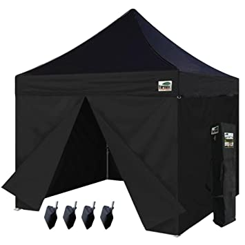 Eurmax 10 x 10 Ez Pop up Canopy Commercial Party Tent with 4 Zippered Sidewalls and  sc 1 st  Amazon.com & Amazon.com: Eurmax 10 x 10 Ez Pop up Canopy Commercial Party Tent ...