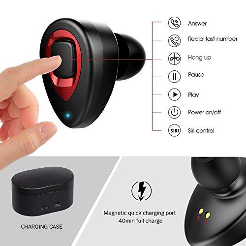 3ecdaa59ea7 Wireless Earbuds,XIAOWU True Wireless Bluetooth Headphones Mini Sweatproof  Sport Headsets in-Ear Noise