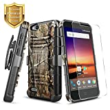 zte blade 3 case - NageBee [Heavy Duty] Shock Proof [Belt Clip] Holster [Kickstand] Case w/[Tempered Glass Screen Protector] For ZTE Blade Vantage (N837/Z839), ZTE Fanfare 3, ZTE Avid 4, ZTE Tempo X (N9137) - Camo