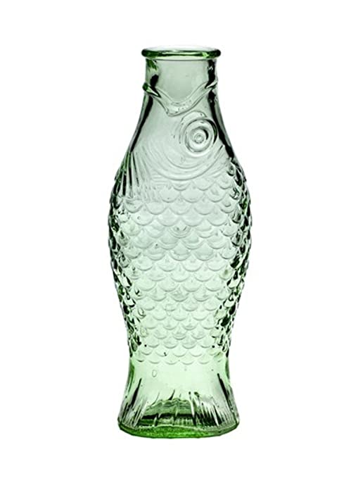 "Botella ""Fish"" de cristal transparente, ..."