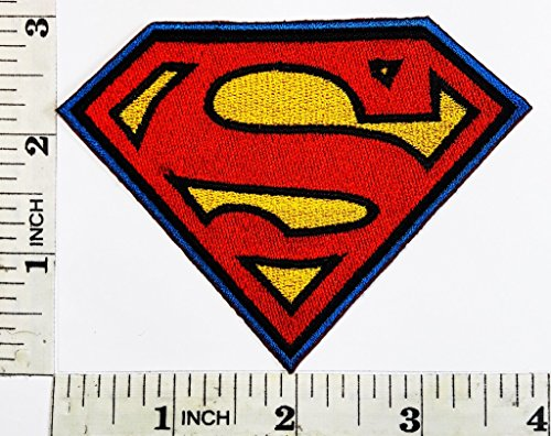 DC Comics Embroidered Superman Logo - Iron or Sew On